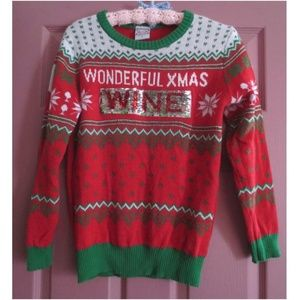 Wine Time Christmas Sweater